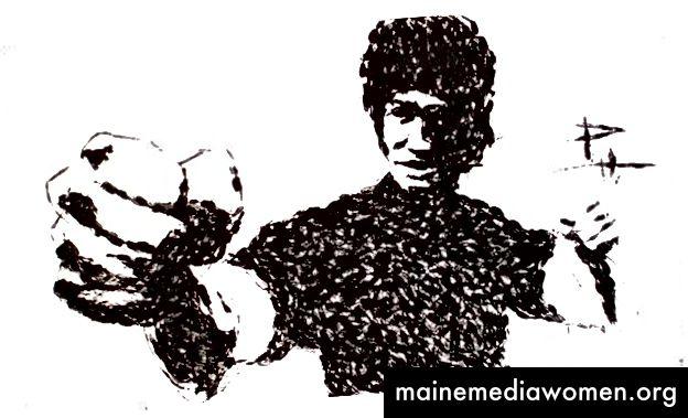 Брус Лий - Карате нарязан на карате - © Фил Хансън