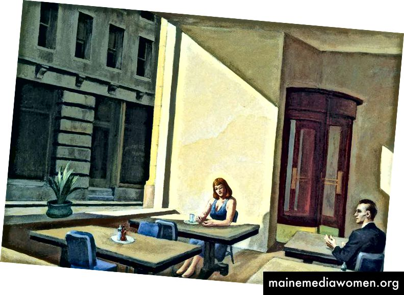 Sonnenlicht in der Cafeteria, 1958, © Edward Hopper, Fair Use