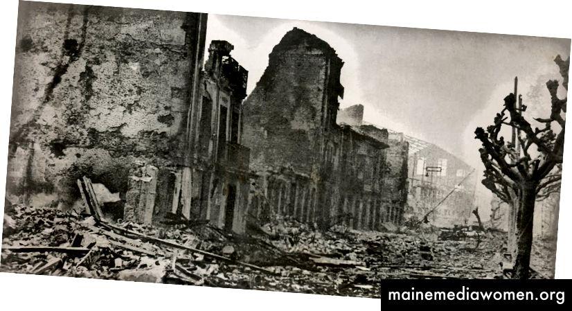 Guernica nach dem Angriff