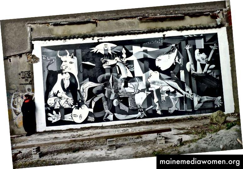 So berühmt wie die Mona Lisa sind Kopien, Zitate und Parodien von Guernica auf der ganzen Welt erschienen.