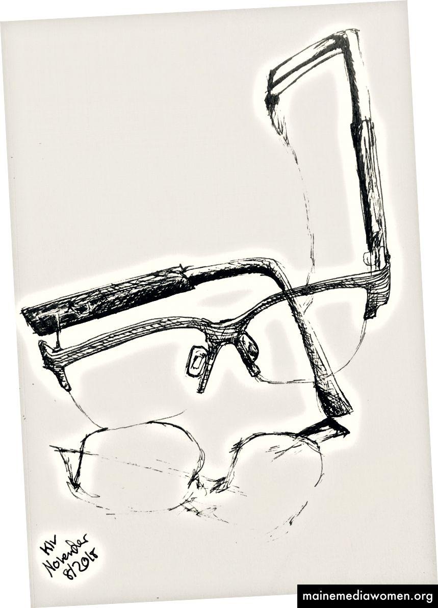 Kunst von mir Tinte auf Papier