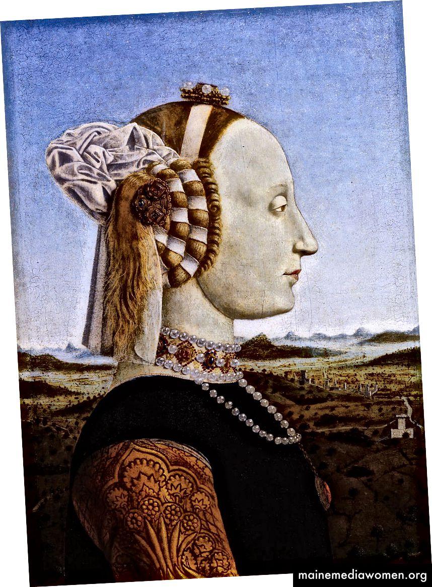 Портрет на Батиста Сфорца, херцогиня на Урбино (1472–1473) от Пиеро дела Франческа