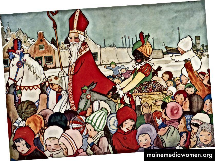 """De Goede Sint (Добрият светец) от холандската писателка и илюстратор, Мари """"Rie"""" Cramer, 1929"""