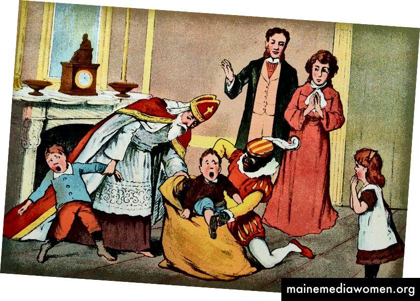 Винтидж холандски детски книжни илюстрации, около началото на 1900 г.