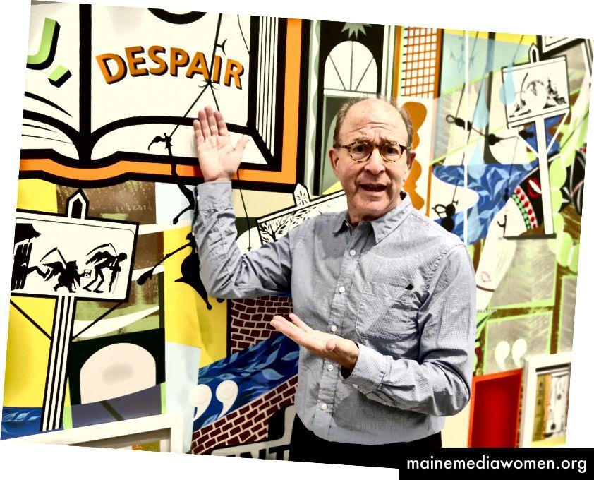 جيري سالتز يقف أمام أحد أعماله. الصورة: جيسي غرانت / غيتي إيماجز لمجلة نيويورك