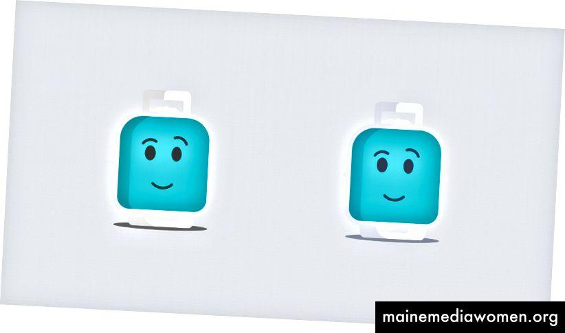 الجانب الأيمن مع التشبع الأزرق.
