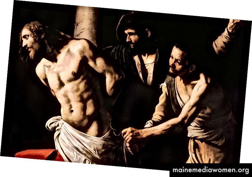 Kristus u sloupu (1607) od Caravaggia.