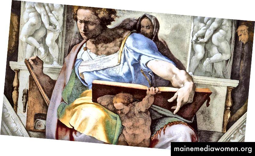 النبي دانيال - كنيسة سيستين (حوالي 1508-1512) من قبل مايكل أنجلو.