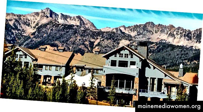 снимка на Moonlight Basin Lodge, Голямото небе, Монтана. Един час преди старта.