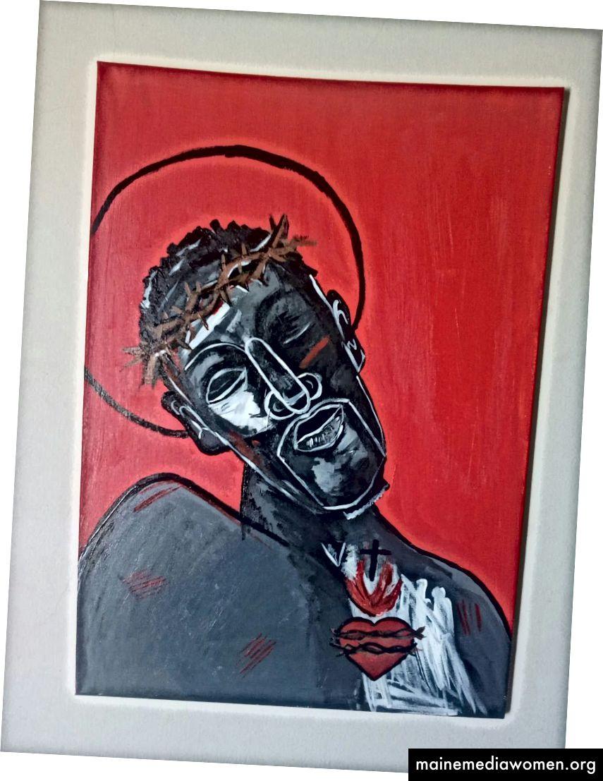 الزنجي يسوع - أكريليك على قماش A1.