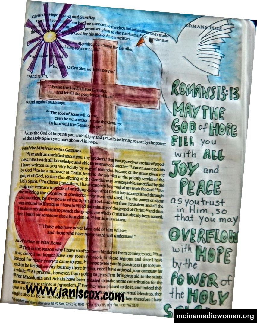 Bible Art Janis Cox Romans 15:13