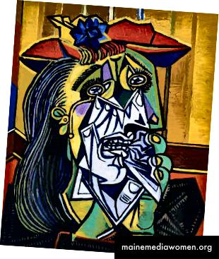 Плачещата жена от Пикасо