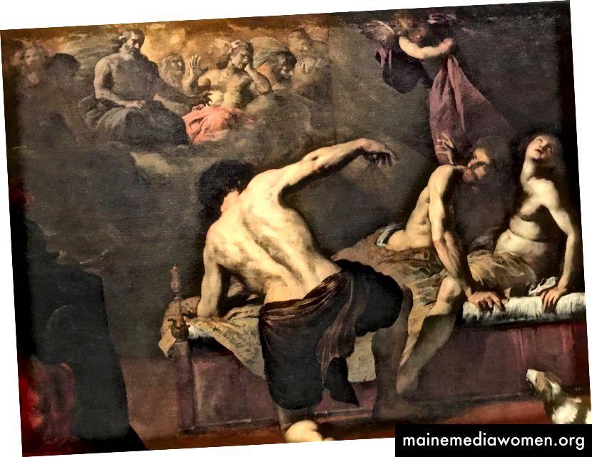 Giovanni Battista Carlone, Marte e Venere sorpresi da Vulcano.