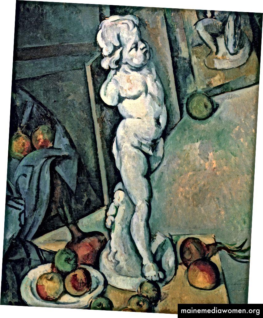 Paul Cézanne ، Still Life with Cherub ، 1895. هذه الحياة الساكنة الرائعة لها تأثير