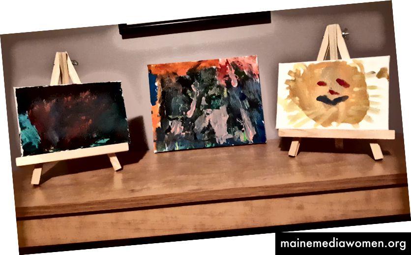 إطارات الفن لتلك الكنوز.