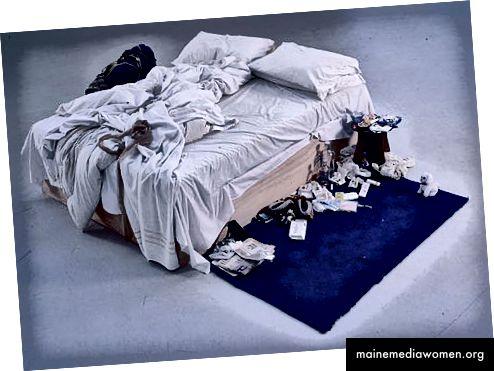 Моето легло, 1998 г. - Трейси Емин