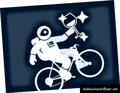 شراب + دوچرخه + جعبه نقشه