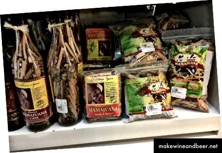 DIY mamajuana, kuiva aluse koostisosad kotis. Peate lisama alkoholi ja mett.