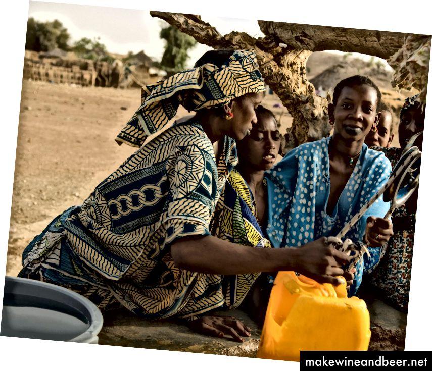 زنان از چاه سنگال آب می گیرند. اعتبار: آریادن ون زندبرگن / عکس عالمی