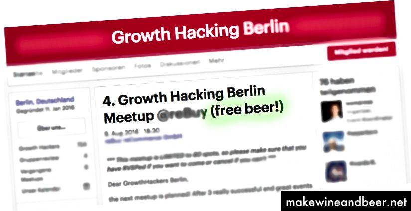 ເຫດການ Hacking MeetUp Growth ແບບປົກກະຕິກັບ