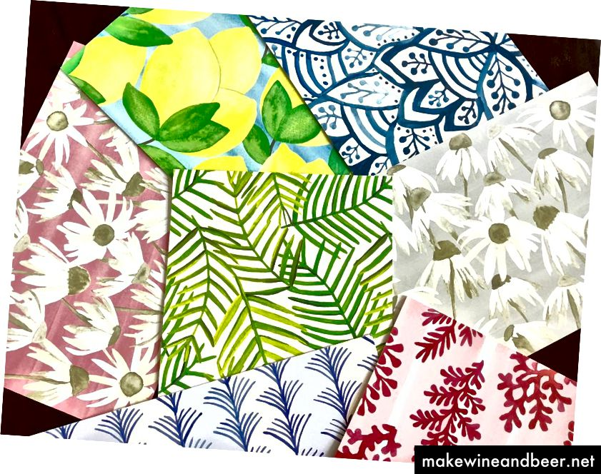 تشک های کاغذی طرح دار ، 22 دلار در هر مجموعه 24 عدد. * ساخته شده در ایالات متحده آمریکا.