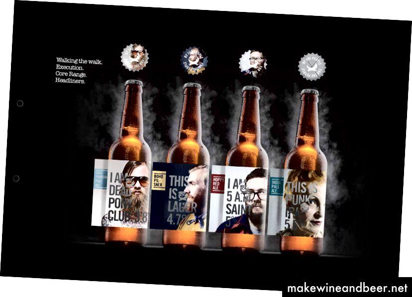 اسلایدها از یک مفهوم rebranding استفاده نشده BrewDog در ماه های گذشته