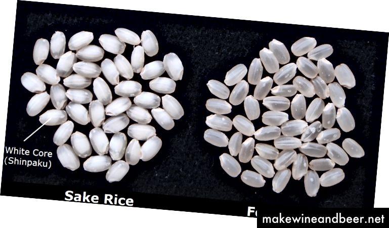 برنجی که برای تهیه آن به کار می رود با برنجی که برای پخت و پز استفاده می شود متفاوت است. اعتبار عکس: Sake School of America