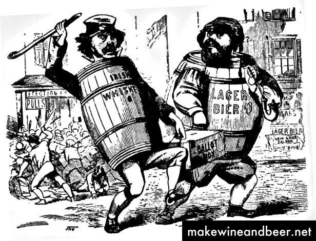 مهاجران ایرلندی و آلمانی در دهه 1840 به تقلب در انتخابات متهم شدند. | جستجوی عکس / گتی