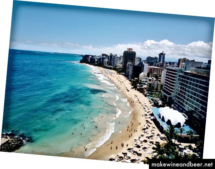 Gözəl Condado Beach, San Juan, Puerto Riko