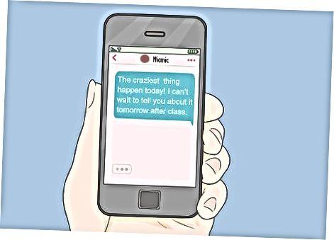 Носете я с вашите текстови съобщения
