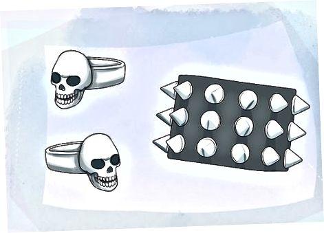 Punk ilhomlantiruvchi aksessuarlarni qo'shish