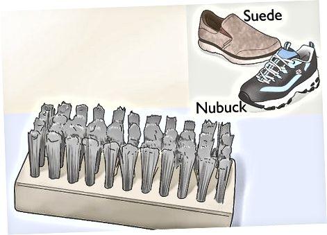 Süet, Nubuk yoki Teri skecherlarni fırçalamak