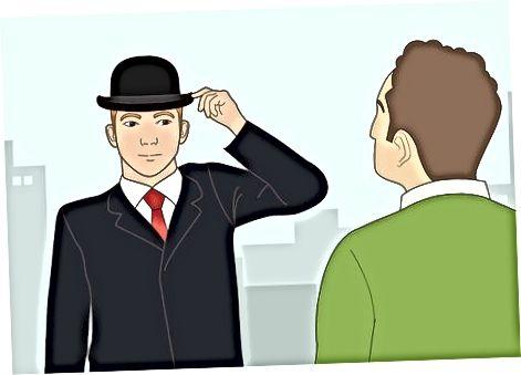 Соблюдая правильный этикет шляпы