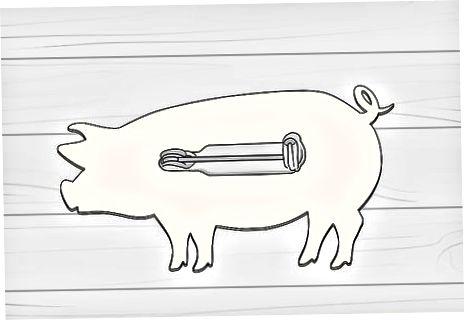 ქაღალდის ღორის ქინძის გულსაბნევი