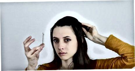Mengamankan Sentuhan Rambut Dengan Bobby Pin