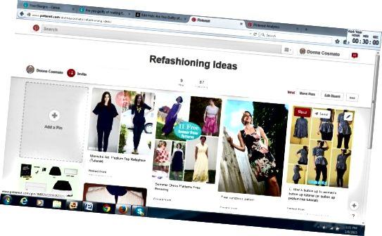 अपने कपड़ों को फिर से बनाने के तरीके खोजने के लिए Pinterest एक अच्छी साइट है।