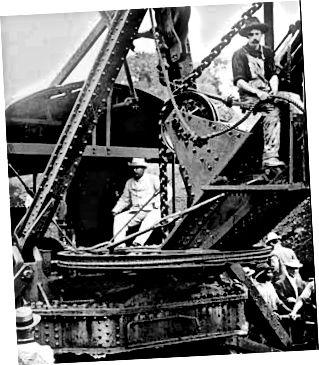 Ο Teddy Roosevelt διοργανώνει τον Παναμά σε επίσκεψη επιθεώρησης στο κανάλι το 1906