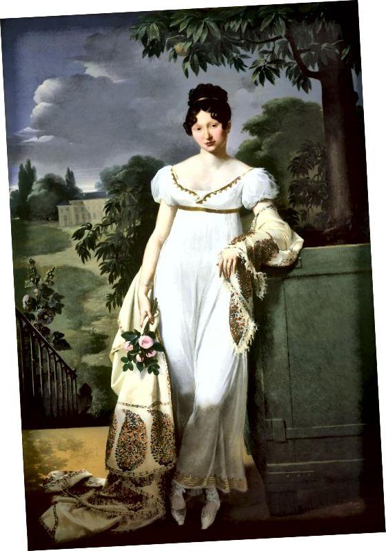 Gaya Regency - gaun putih sekitar tahun 1808