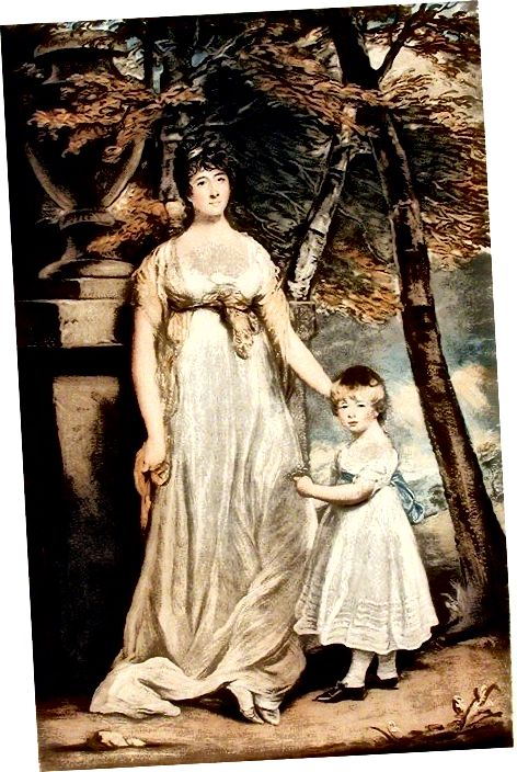 Regency Style - Women with a Child Circa 1805