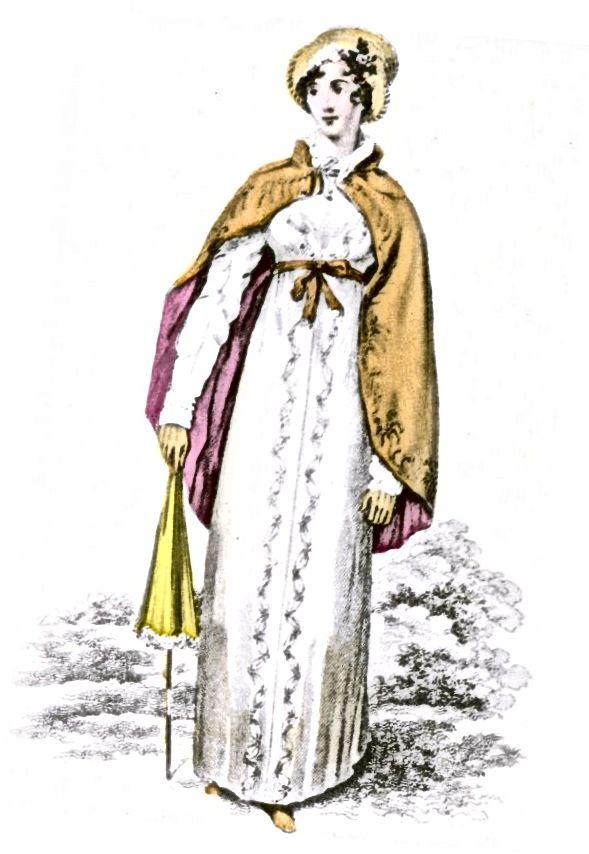 Jubah pendek kabupaten dengan gaun lengan panjang - 1813