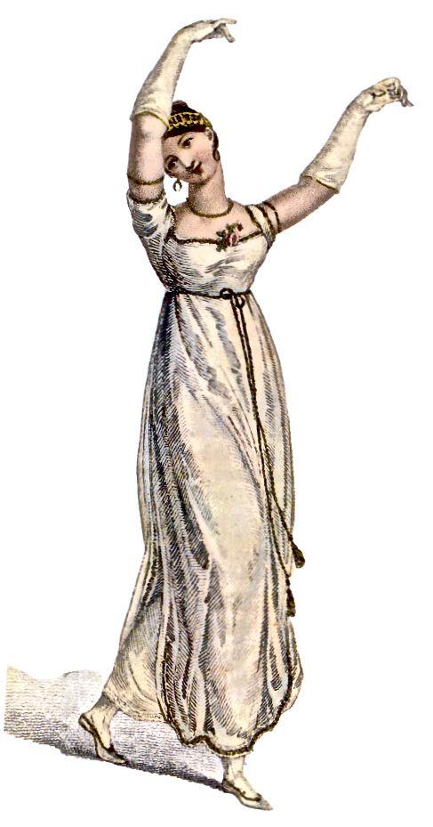 Kostum kabupaten - gaun dansa 1809