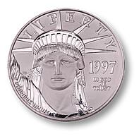 Το κέρμα της πλατίνας American Eagle.