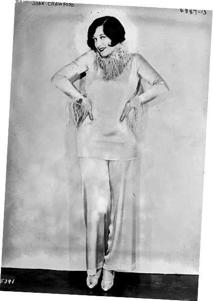 1927 - अमेरिकी लाइब्रेरी ऑफ कांग्रेस से होस्टेस पैंट में जोन क्रॉफोर्ड