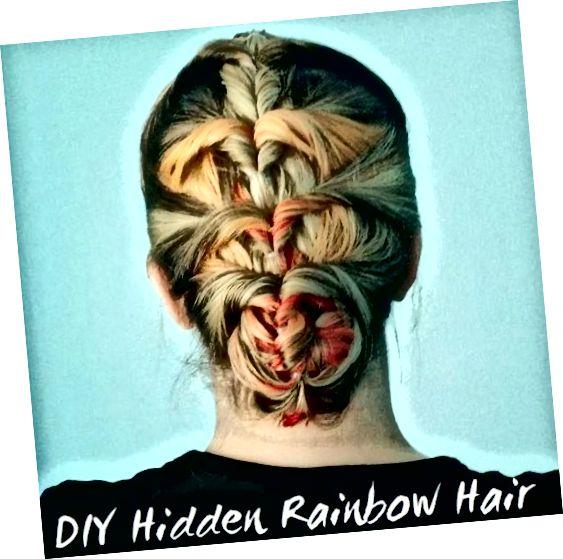 अपने आप को घर पर छिपे हुए इंद्रधनुषी बाल दें।