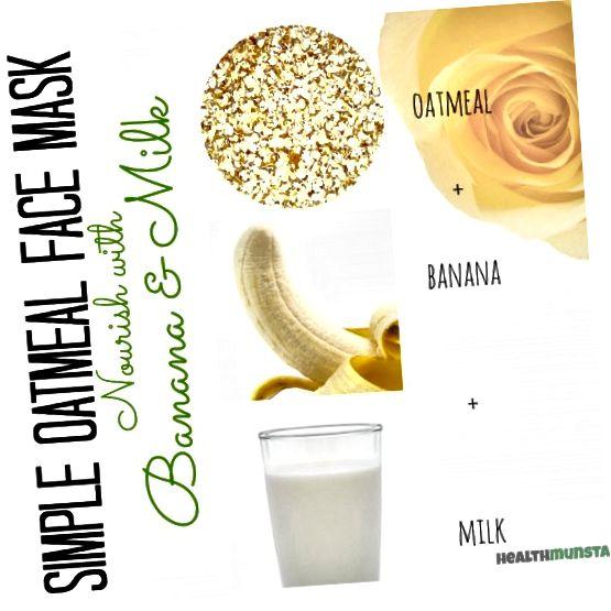 بلغور جو دوسر ، موز و شیر را برای یک ماسک تغذیه کننده که باعث سیراب شدن سلولهای پوستی و تقویت تن پوست می شود ، ترکیب کنید.