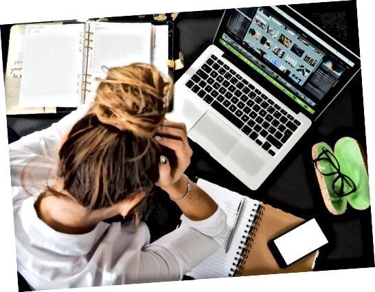Probeer u niet door de planning te laten stressen. Stap weg en neem een pauze wanneer je het nodig hebt.