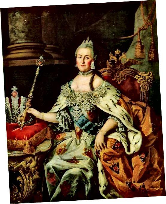 Portrét Alexeje Petroviče Antropova Kateřiny Veliké.