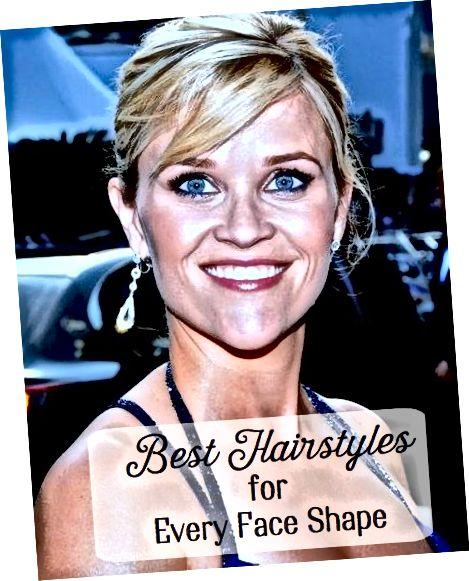 Různé tvary obličeje, včetně slavného tvaru srdce Reese Witherspoona, vypadají nejlépe, když jsou spárovány se správným účesem.