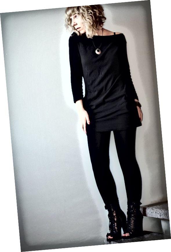 Oblečení černé legíny