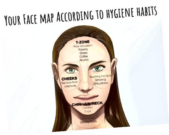 Někdy mohou vaše hygienické návyky ovlivnit místo, kde se na tváři objevují úrazy.